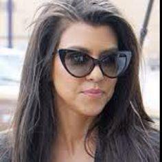 I have to have these fabulous cateye sunglasses worn by my inspiration, kourtney kardashian.