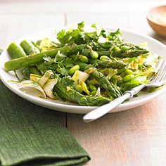 Asparagus, Edamame, and Parsley Salad From Better Homes and Gardens, ideas and improvement projects for your home and garden plus recipes and entertaining ideas.