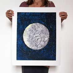 ONLY 45 OF THESE PRINTS LEFT! . This print features 40 extinct animals is printed on vegan certified bamboo paper and is based on this poem: . And so the creatures of the former Squirm and squeeze Dense in their numbers Soft in their flesh. They sit in our darkness In our folklore Yet we are told There is no dark side Of the moon. If we are all stardust (to dust) Then why do I wake in the night Looking to the sky For those missing constellations? . . . . . #etsy #bamboopaper #ethical…
