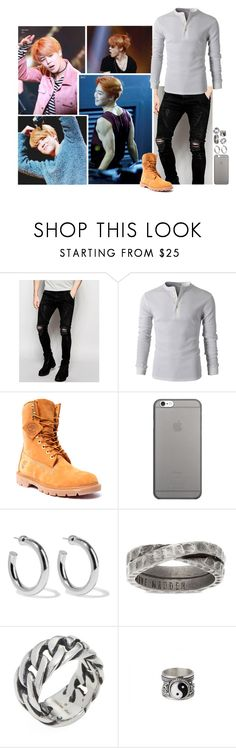 """""""Ootd [ Jimin ]"""" by believe-in-you-always ❤ liked on Polyvore featuring Sik Silk, Timberland, Native Union, Sophie Buhai, Steve Madden, Degs & Sal, Edge Only, living room, men's fashion and menswear"""
