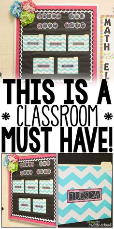 This is the most used bulletin board in my classroom! You NEED one of these!!