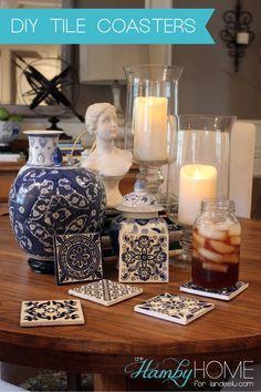 DIY Tile Coasters | landeelu.com