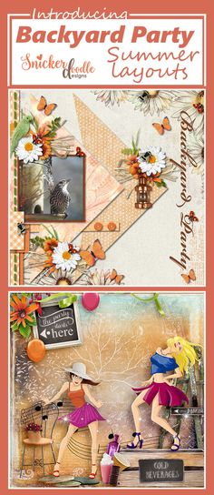 """""""Relax, unwind, and accept the Crazy!"""" is the perfect phrase to describe the fun packed into the Backyard Party digital scrapbooking collection by Snickerdoodle Designs. Full of gorgeous summer flowers, luscious greenery, party games, chalkboard signs, and sparkling party lights, the kit provides all you need to scrap your summer parties and events. The premade add-ons, will help make your pages go together in a snap!  On sale for 30%-54% off!"""