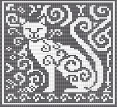 Cat fair isle pattern but would make good block pattern for crochet blanket.