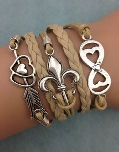 Love this boho tan wrap bracelet! Perfect for spring accessories
