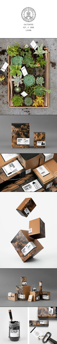 Good Outdoor | The Good Store | Herrera, Carriedo, Giboin, Huang. Perfect #garden #branding #packaging