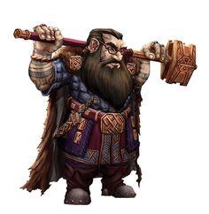 Male Dwarf Hammer Scholar - Pathfinder PFRPG DND D&D d20 fantasy