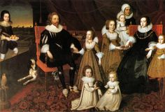 Sir Thomas Lucy, Lady Alice Spencer, and family by or after Cornelius Johnson (Charlecote Park, The Fairfax-Lucy Collection - Warwick UK) Men in slashed sleeves. Everybody wears a ruff. Lyon, 17th Century Clothing, Spencer, Cornelius, Colourful Outfits, Family Portraits, Photo Art, Victorian, Tumblr