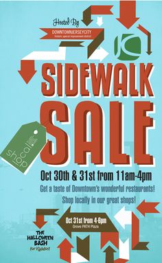 Sidewalk sale advertisement