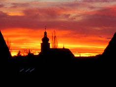 Toller #Sonnenaufgang am 28.12.2013 in #Forchheim. Mehr zu Forchheim: http://www.reiseziele.com/reiseziele/forchheim/forchheim.htm