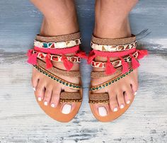 Bohemian sandals Sunset Greek leather sandals