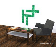 #napis# #citaty# #scrabble# Scrabble, Rodin, Stylus, Table, Furniture, Design, Home Decor, Living Room Ideas, Decoration Home