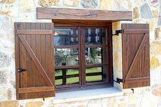 Exterior Barn Doors, Window Shutters Exterior, Cedar Shutters, House Shutters, Diy Shutters, Wooden Shutters, Exterior House Colors, Window Design, Door Design