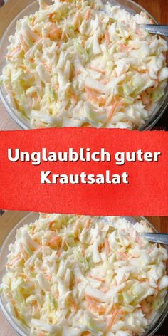 Incredibly good coleslaw - We have this salad in our snack bar. There are days when I have an appetite for something fried unhealthy - food # . Healthy Vegetarian Breakfast, Salad Recipes Healthy Lunch, Salad Recipes For Dinner, Healthy Low Carb Recipes, Quick Healthy Meals, Healthy Crockpot Recipes, Dinner Healthy, Vegetarian Recipes, Dessert Recipes