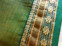 Floral Paisley Green Yellow Teal Gold Dual Tone Indian by RaajMa