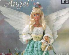 Satz von 8 Gehäkelte Engel Mode Puppe Thread häkeln von CHpatterns