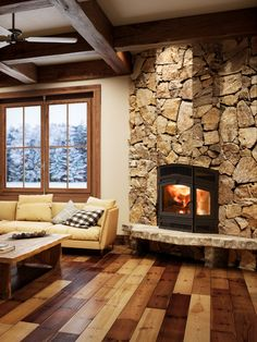 RSF Delta Fusion is EPA 2020 certified with an emission rate of Perfect for corner installations, it has three windows allowing for a view of the file. Fireplace Ideas, Fireplaces, Corner, Windows, 3d, Home Decor, Airstone, Wall, Fireplace Set