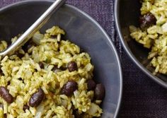 Forks Over Knives : Green Chile Rice with Black Beans
