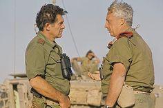 Israeli generals-Yom Kippur War 1973. David Elazar and Ariel Sharon