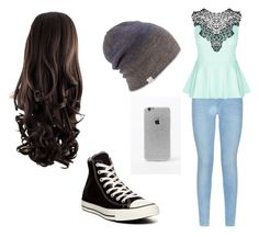 """""""Untitled #13"""" by meckensylou on Polyvore featuring 7 For All Mankind, City Chic, Converse, Coal and LA: Hearts"""
