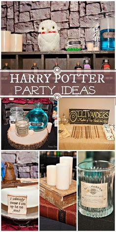 Alchemy awaits with potions and butterbeer at this Harry Potter boy birthday party Harry Potter Fiesta, Cumpleaños Harry Potter, Harry Potter Wedding, Harry Potter Birthday, Harry Potter Halloween Party, Harry Potter Christmas, Ron Y Hermione, Anniversaire Harry Potter, Harry Potter Baby Shower