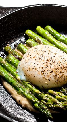 "DAVID CHANG'S ASPARAGUS & POACHED EGG with MISO ""BUTTER"" ~~~ this famous recipe is shared from the amaaazing cookbook, ""momofuku"" [David Chang] [iamafoodblog]"