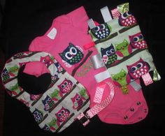 Owl Always Love You Baby Girl Gift Set 36months by StellaHudson33, $35.00
