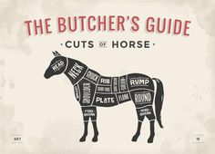 Cut Of Meat Set. Poster Butcher Diagram, Scheme - Horse Stock Vector - Illustration of chart, illustration: 99666112 Horse Meat, Horse Silhouette, Animal Science, Butcher Shop, Banner Printing, Smoking Meat, Menu Restaurant, How To Draw Hands, Poster