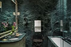 green marble bathroom - Google Search