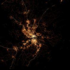 Cartes de villes comme vues de l'espace la nuit carte ville nuit 06 - Stockolm Night City