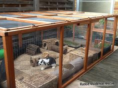 The only good thing about those horrible small rabbit hutches being sold is that you can use them within their accommodation set ups as cosy hideouts, or things for your bunny to climb on. Description from best4bunny.com. I searched for this on bing.com/images