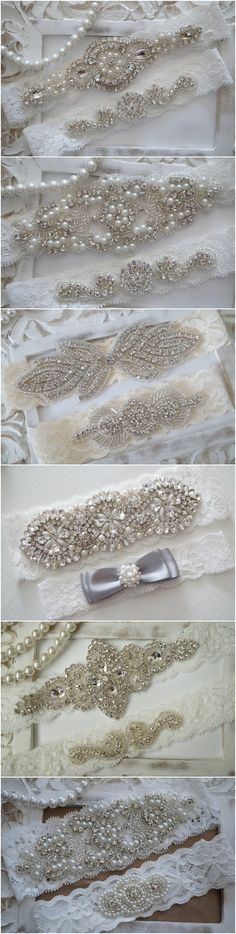 Rustic Wedding Garter Set via OneFancyDay / http://www.deerpearlflowers.com/wedding-garters-sets-from-etsy/2/
