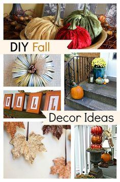 10 DIY Fall Decor Ideas to get you ready for Fall. www.chatfieldcourt.com