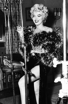 """"""" Marilyn Monroe during the filming of a deleted scene in The Seven Year Itch, 1954. """""""