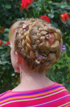 Braids & Hairstyles for Super Long Hair: My look for today~ Spiral Braid Updo