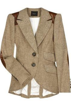 Smythe blazer. Really like the darker brown embellishment and the shorter front/longer back