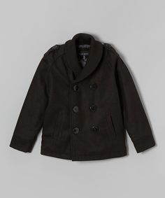 Look what I found on #zulily! Black Peacoat - Infant, Toddler & Boys by Urban Republic #zulilyfinds