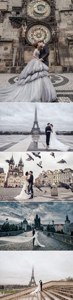 The Most Romantic Getaway! 35 Breathtaking Europe Pre-wedding Photos!