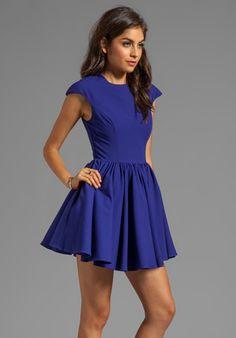 CAMEO Mountain Dew Dress in Cobalt Blue