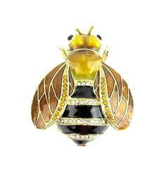 Honey Bee Jewelled & Enamelled Trinket Box or Figurine - Boxed in Collectables, Animals   eBay!