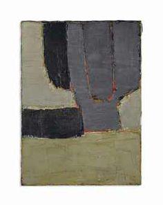 NICOLAS DE STAËL Composition signé 'Staël' (en bas à gauche) huile sur toile 98 x 73 cm. (38½ x 28 3/8 in.) Peint en 1950.