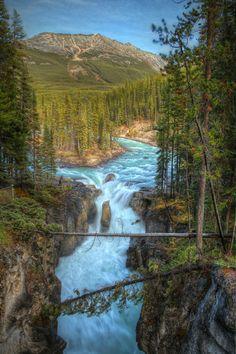 Sunwapta Falls, Jasper National Park, Alberta, Canada (by Aaron...
