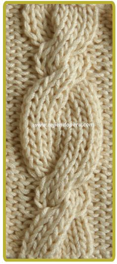 Different braids and eights for knitting in two needles. Cable Knitting Patterns, Knitting Stiches, Lace Knitting, Knit Patterns, Crochet Stitches, Stitch Patterns, Knitting Needles, Knit Headband Pattern, Knitted Headband