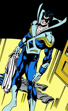 Classic Nightwing is still one of my favorite superhero designs ever - art by Jim Aparo & Mike DeCarlo