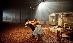 Paddington mail sorting office transformed …Fernanda Prata and Jesse Kovarsky in Punchdrunk's The Drowned Man: A Hollywood Fable. Photograp...