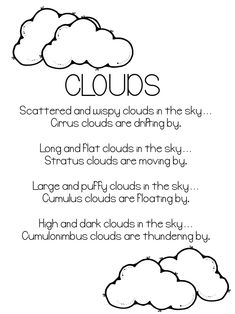 Kinds of clouds poem- Mr. Gumpy Motor Car