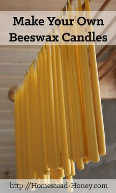 The magical and beautiful process of making beeswax taper candles at home. | Homestead Honey #beekeeping #homebusinessessentials,