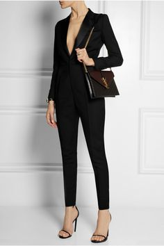 Saint Laurent | Monogramme quilted leather shoulder bag | NET-A-PORTER.COM