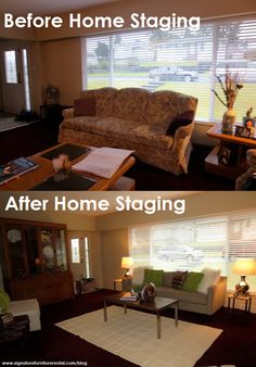 Why home staging works: before and after #homestaging