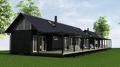 ผลการค้นหารูปภาพสำหรับ barn house new zealand Modern Barn House, Barn House Plans, Modern House Plans, Small House Plans, Dark House, Exterior Cladding, Prefab Homes, Window Design, Architect Design